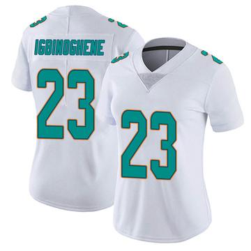 Women's Nike Miami Dolphins Noah Igbinoghene White limited Vapor Untouchable Jersey -