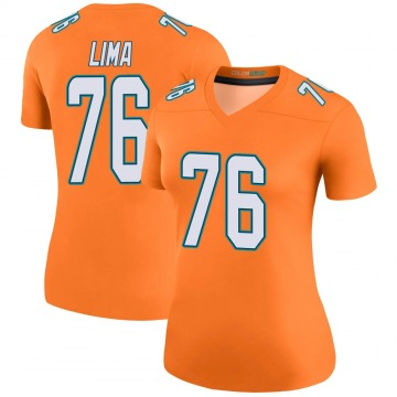 Women's Nike Miami Dolphins Ray Lima Orange Color Rush Jersey - Legend