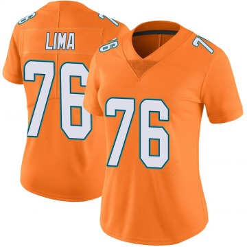 Women's Nike Miami Dolphins Ray Lima Orange Color Rush Jersey - Limited