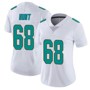 Women's Nike Miami Dolphins Robert Hunt White limited Vapor Untouchable Jersey -