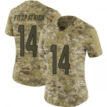 Women's Nike Miami Dolphins Ryan Fitzpatrick Camo 2018 Salute to Service Jersey - Limited
