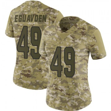 Women's Nike Miami Dolphins Sam Eguavoen Camo 2018 Salute to Service Jersey - Limited