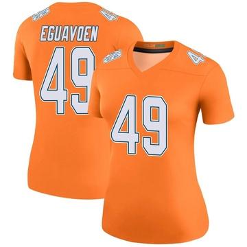 Women's Nike Miami Dolphins Sam Eguavoen Orange Color Rush Jersey - Legend