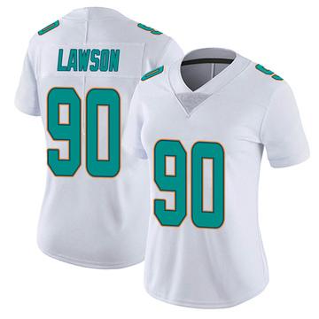 Women's Nike Miami Dolphins Shaq Lawson White limited Vapor Untouchable Jersey -