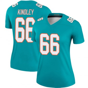 Women's Nike Miami Dolphins Solomon Kindley Aqua Jersey - Legend