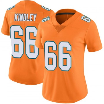 Women's Nike Miami Dolphins Solomon Kindley Orange Color Rush Jersey - Limited