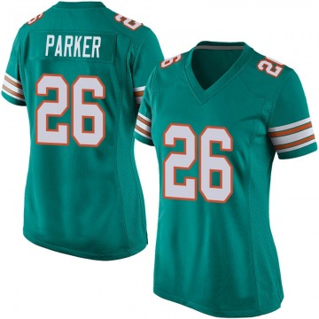 Women's Nike Miami Dolphins Steven Parker Aqua Alternate Jersey - Game