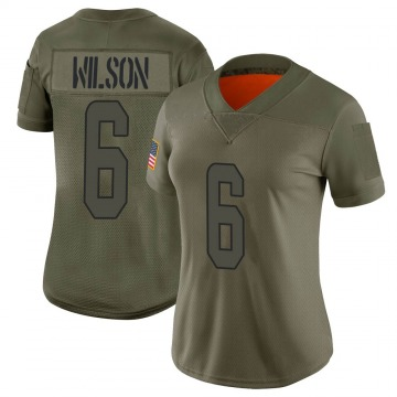 Women's Nike Miami Dolphins Stone Wilson Camo 2019 Salute to Service Jersey - Limited