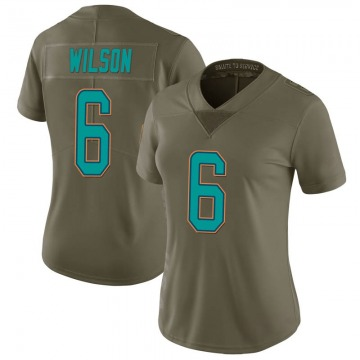 Women's Nike Miami Dolphins Stone Wilson Green 2017 Salute to Service Jersey - Limited