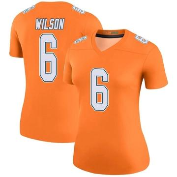 Women's Nike Miami Dolphins Stone Wilson Orange Color Rush Jersey - Legend