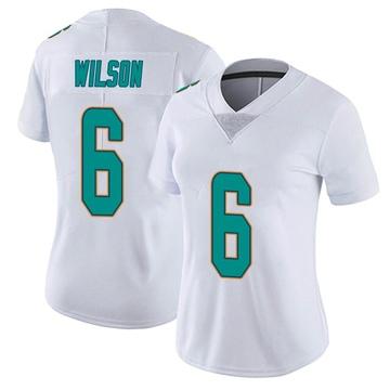 Women's Nike Miami Dolphins Stone Wilson White limited Vapor Untouchable Jersey -
