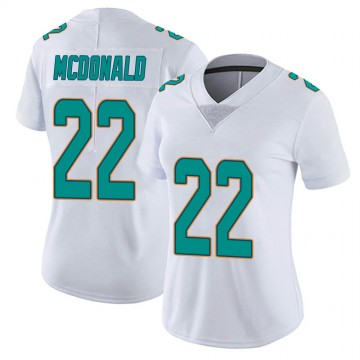 Women's Nike Miami Dolphins T.J. McDonald White limited Vapor Untouchable Jersey -