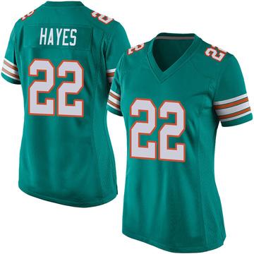 Women's Nike Miami Dolphins Tae Hayes Aqua Alternate Jersey - Game