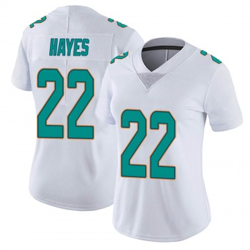 Women's Nike Miami Dolphins Tae Hayes White limited Vapor Untouchable Jersey -