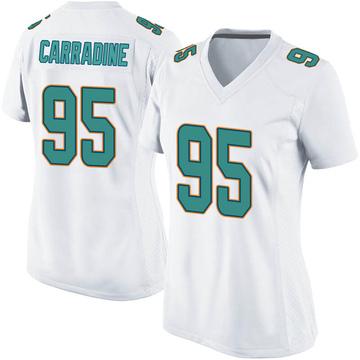 Women's Nike Miami Dolphins Tank Carradine White Jersey - Game