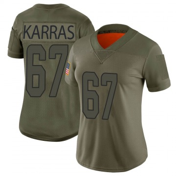 Women's Nike Miami Dolphins Ted Karras Camo 2019 Salute to Service Jersey - Limited