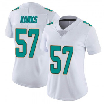 Women's Nike Miami Dolphins Terrill Hanks White limited Vapor Untouchable Jersey -