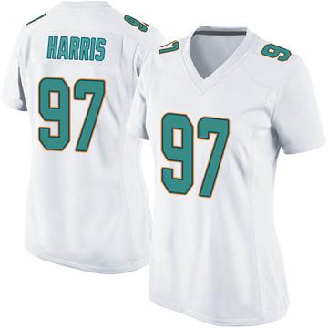 Women's Nike Miami Dolphins Trent Harris White Jersey - Game