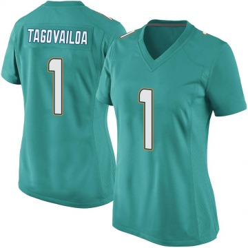Women's Nike Miami Dolphins Tua Tagovailoa Aqua Team Color Jersey - Game
