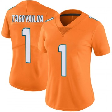 Women's Nike Miami Dolphins Tua Tagovailoa Orange Color Rush Jersey - Limited