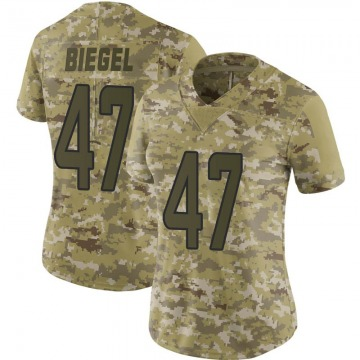 Women's Nike Miami Dolphins Vince Biegel Camo 2018 Salute to Service Jersey - Limited