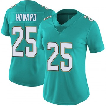 Women's Nike Miami Dolphins Xavien Howard Aqua Team Color Vapor Untouchable Jersey - Limited