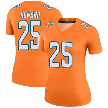 Women's Nike Miami Dolphins Xavien Howard Orange Color Rush Jersey - Legend