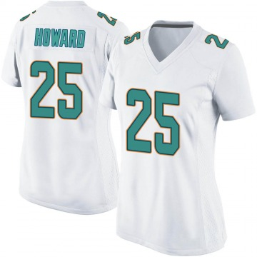 Women's Nike Miami Dolphins Xavien Howard White Jersey - Game