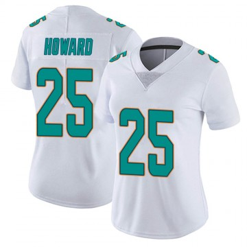 Women's Nike Miami Dolphins Xavien Howard White limited Vapor Untouchable Jersey -