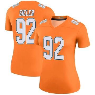 Women's Nike Miami Dolphins Zach Sieler Orange Color Rush Jersey - Legend