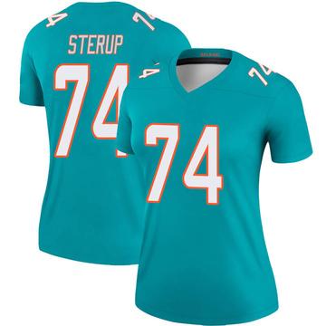 Women's Nike Miami Dolphins Zach Sterup Aqua Jersey - Legend