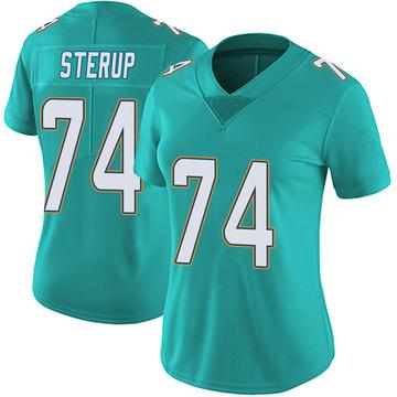 Women's Nike Miami Dolphins Zach Sterup Aqua Team Color Vapor Untouchable Jersey - Limited