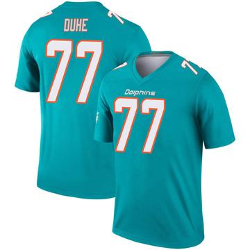 Youth Nike Miami Dolphins Adam Joseph Duhe Aqua Inverted Jersey - Legend