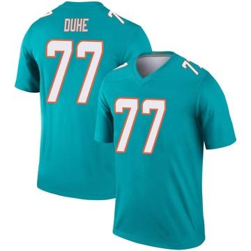 Youth Nike Miami Dolphins Adam Joseph Duhe Aqua Jersey - Legend