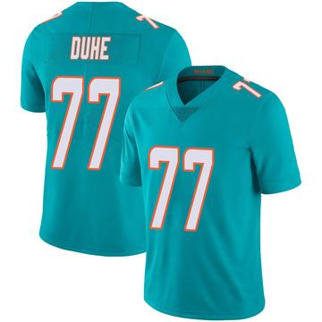 Youth Nike Miami Dolphins Adam Joseph Duhe Aqua Team Color 100th Vapor Untouchable Jersey - Limited
