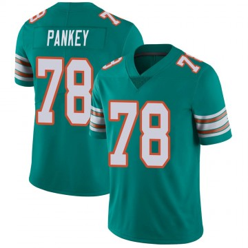 Youth Nike Miami Dolphins Adam Pankey Aqua Alternate Vapor Untouchable Jersey - Limited
