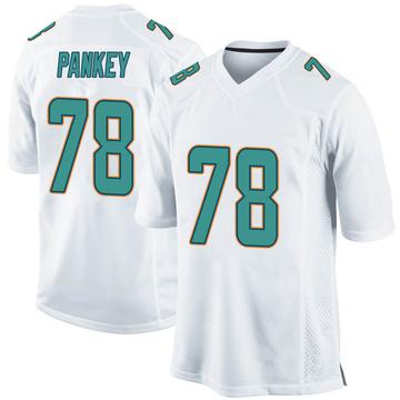 Youth Nike Miami Dolphins Adam Pankey White Jersey - Game