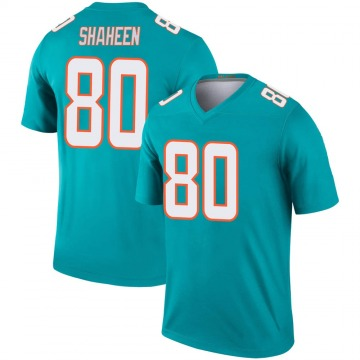 Youth Nike Miami Dolphins Adam Shaheen Aqua Jersey - Legend
