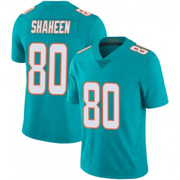 Youth Nike Miami Dolphins Adam Shaheen Aqua Team Color 100th Vapor Untouchable Jersey - Limited