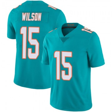 Youth Nike Miami Dolphins Albert Wilson Aqua Team Color 100th Vapor Untouchable Jersey - Limited