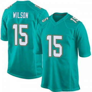 Youth Nike Miami Dolphins Albert Wilson Aqua Team Color Jersey - Game