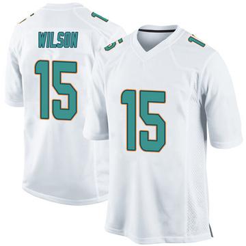 Youth Nike Miami Dolphins Albert Wilson White Jersey - Game