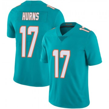 Youth Nike Miami Dolphins Allen Hurns Aqua Team Color 100th Vapor Untouchable Jersey - Limited