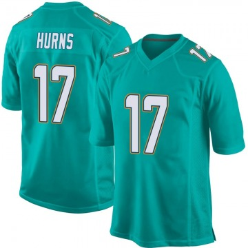 Youth Nike Miami Dolphins Allen Hurns Aqua Team Color Jersey - Game