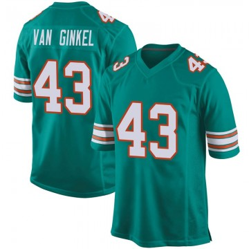 Youth Nike Miami Dolphins Andrew Van Ginkel Aqua Alternate Jersey - Game