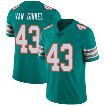 Youth Nike Miami Dolphins Andrew Van Ginkel Aqua Alternate Vapor Untouchable Jersey - Limited