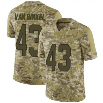 Youth Nike Miami Dolphins Andrew Van Ginkel Camo 2018 Salute to Service Jersey - Limited