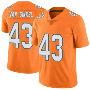 Youth Nike Miami Dolphins Andrew Van Ginkel Orange Color Rush Jersey - Limited