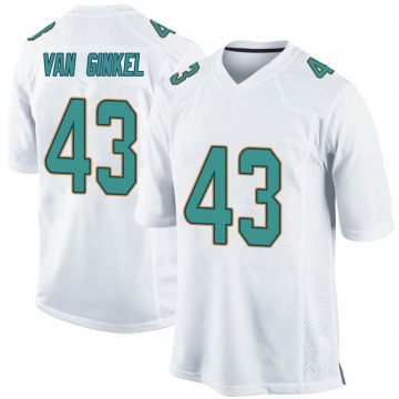 Youth Nike Miami Dolphins Andrew Van Ginkel White Jersey - Game