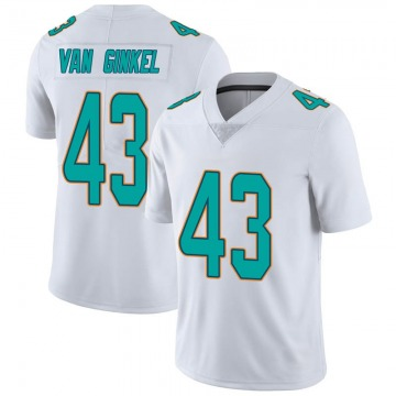 Youth Nike Miami Dolphins Andrew Van Ginkel White limited Vapor Untouchable Jersey -
